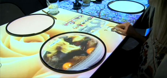A Cool Interactive System Projects Food Onto Restaurants